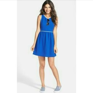 Soprano Princess Blue Fit And Flare Dress